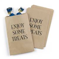 Enjoy Some Treats Treat Bags - Kraft - Blank
