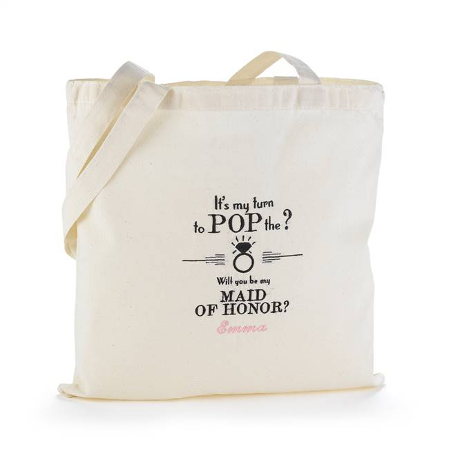 Pop the Question Tote Bag - Maid of Honor - Blank