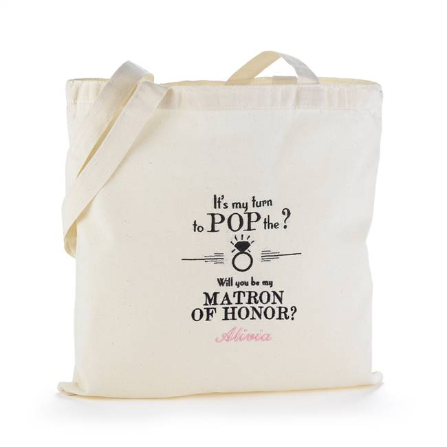 Pop the Question Tote Bag - Matron of Honor - Blank