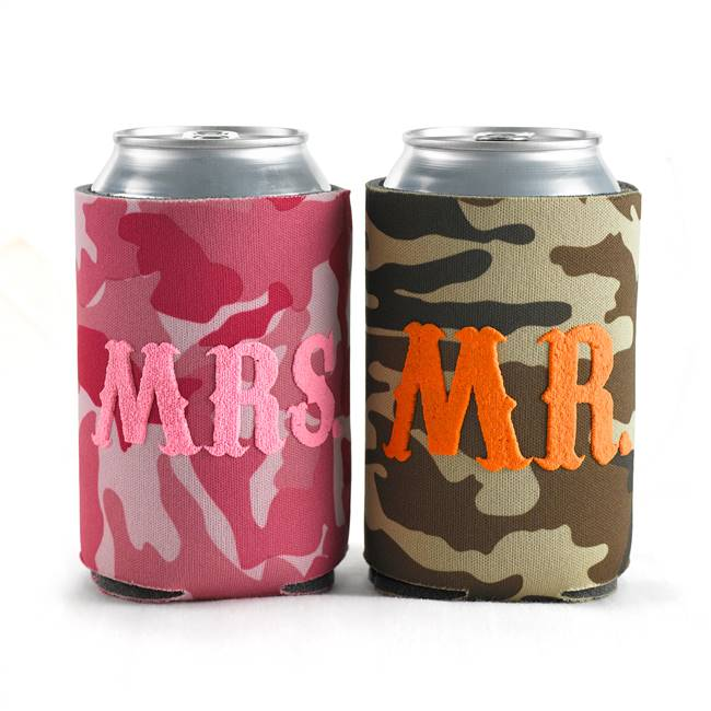 Mr. & Mrs. Camo Can Coolies
