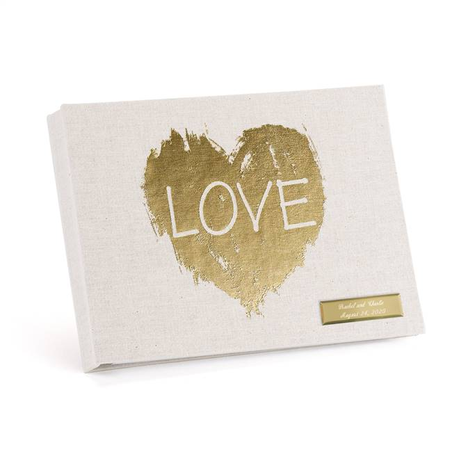 Brush of Love Guest Book - Blank