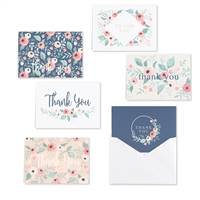 Blush Floral Thank You Set