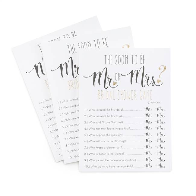 Mr or Mrs Guess Who Newlywed Game