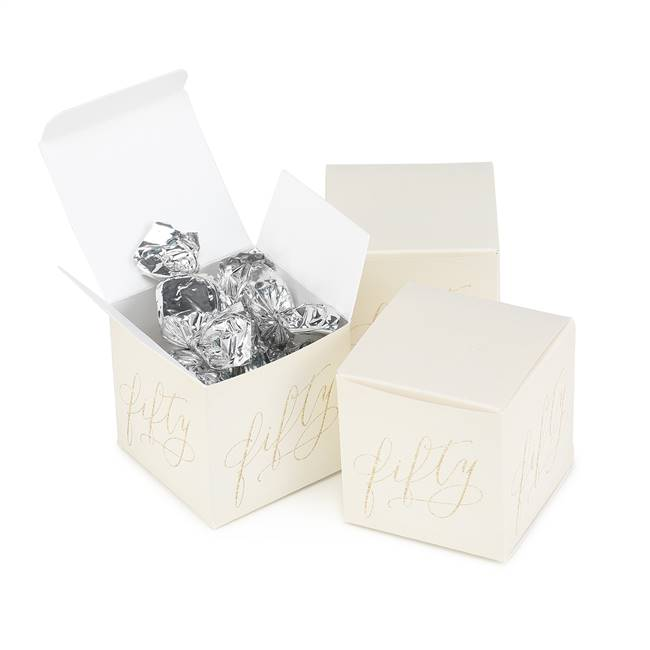 Fifty Years Anniversary Favor Box - Blank