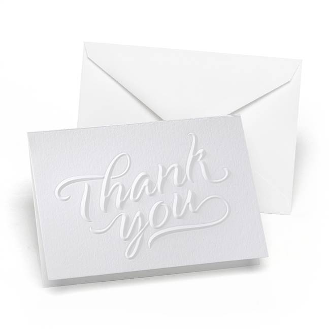 Embossed Thank You