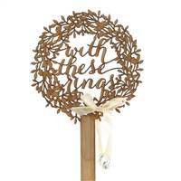 Wreath Wood Ring Holder