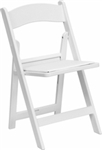 HERCULES Series 1000 lb. Capacity White Resin Folding Chair with Black Vinyl Padded Seat