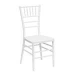 Elegance White Resin Stacking Chiavari Chair