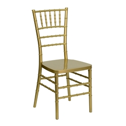 Elegance Gold Resin Stacking Chiavari Chair