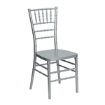 Flash Elegance Silver Resin Stacking Chiavari Chair