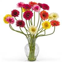 Gerber Daisy Liquid Illusion Silk Flower Arrangement