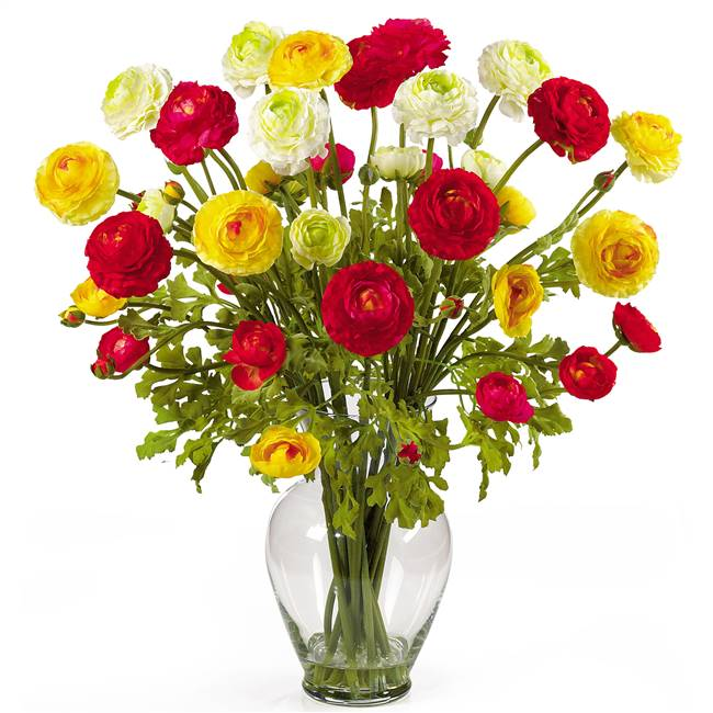 Ranunculus Liquid Illusion Silk Flower Arrangement