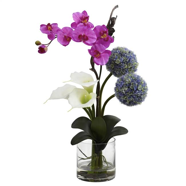 Calla, Orchid & Ball flower Arrangement