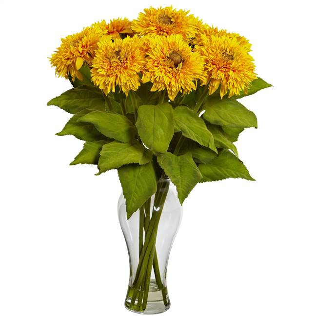 Sunflower Arrangement w/Vase