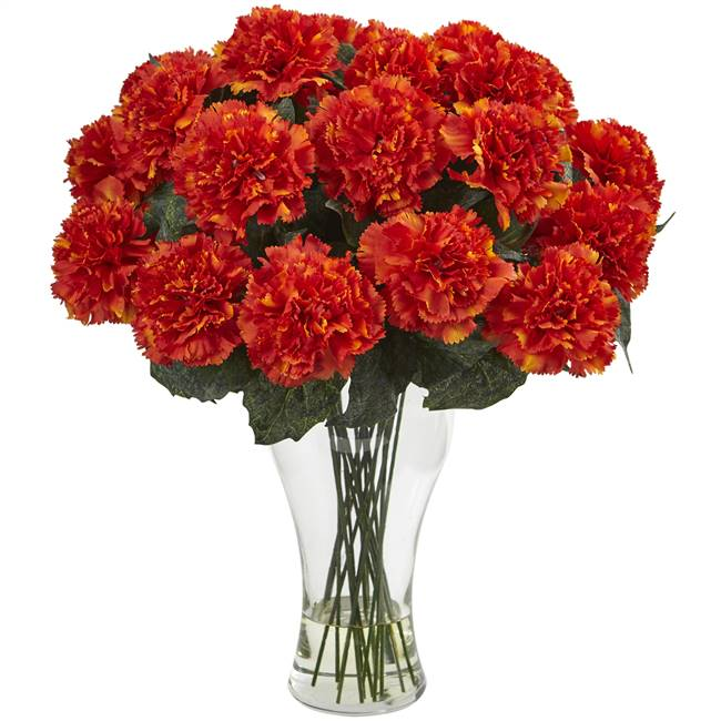 Blooming Carnation Arrangement w/Vase