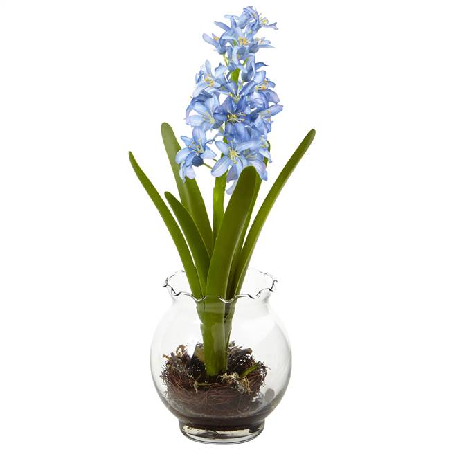 Hyacinth & Birds Nest w/Vase