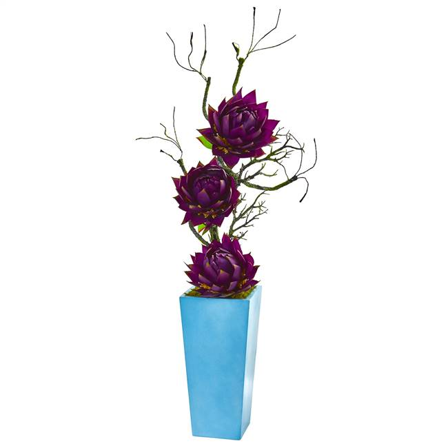 "53"" Musella Artificial Arrangement in Blue Planter"