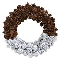 "20"" Frosted Pine Cone Wreath"