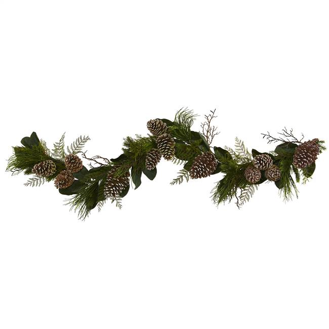 6' Pine Cone and Pine Artificial Garland