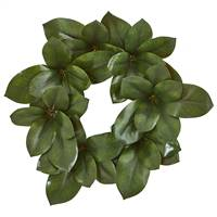 "22"" Magnolia Leaf Artificial Wreath"