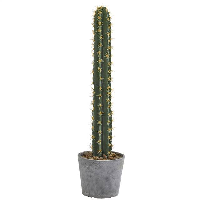 "41"" Cactus in Stone Planter Artificial Plant"
