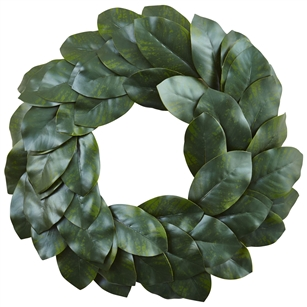 "24"" Magnolia Leaf Wreath"