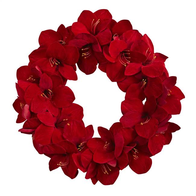 "22"" Amaryllis Wreath"