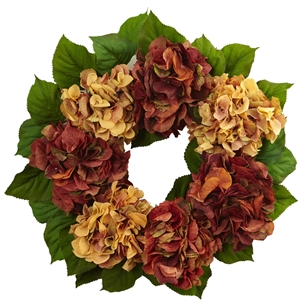 24'' Autumn Hydrangea Wreath