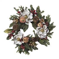 "24"" Magnolia Pinecone & Berry Wreath"