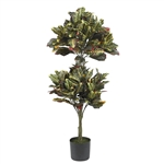 4.5' Croton Topiary Silk Tree