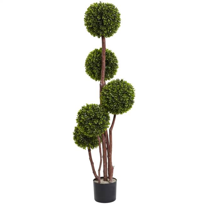 4'  Boxwood Topiary x5 w/420 Lvs UV Resistant (Indoor/Outdoor)