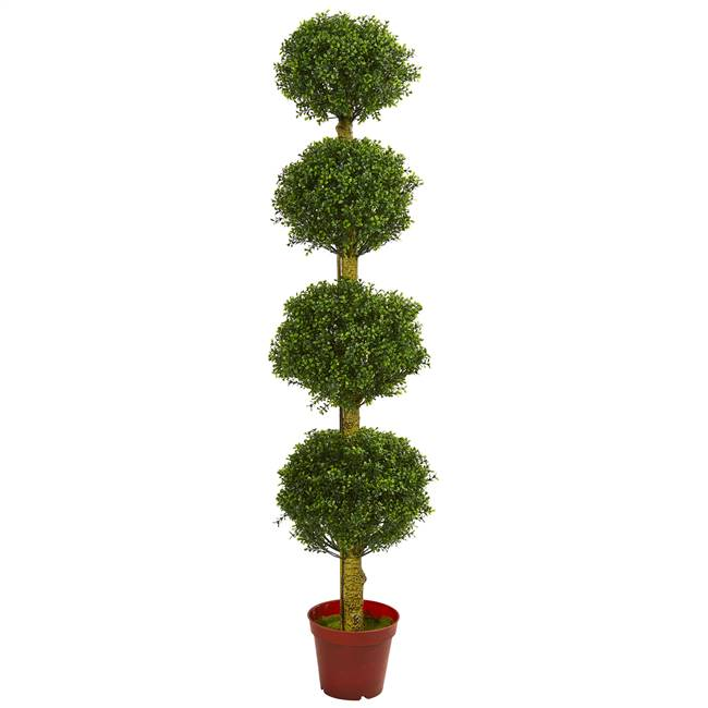 6' Four Tier Boxwood Artificial Topiary Tree UV Resistant (Indoor/Outdoor)