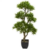 "37"" Bonsai Styled Podocarpus Artificial Tree"