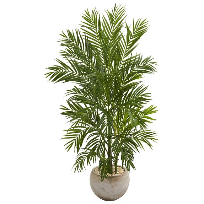 5' Areca Palm Artificial Tree in Bowl Planter