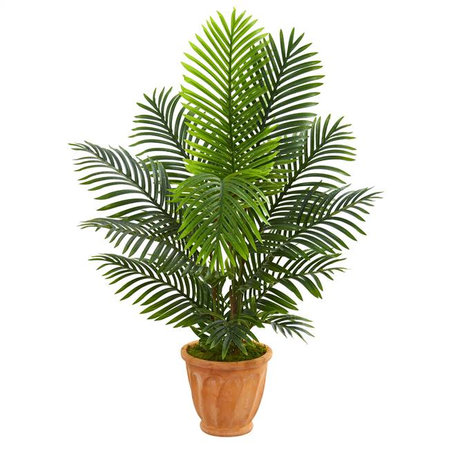4.5' Paradise Palm Artificial Tree in Terra Cotta Planter