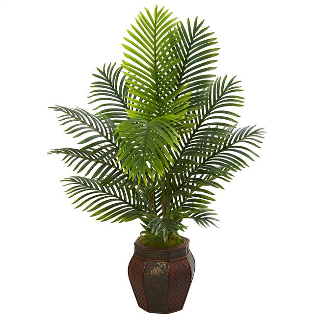 4.5' Paradise Palm Artificial Tree in Decorative Planter