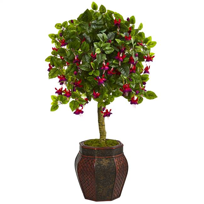 "44"" Fuschia Artificial Tree in Decorative Planter"
