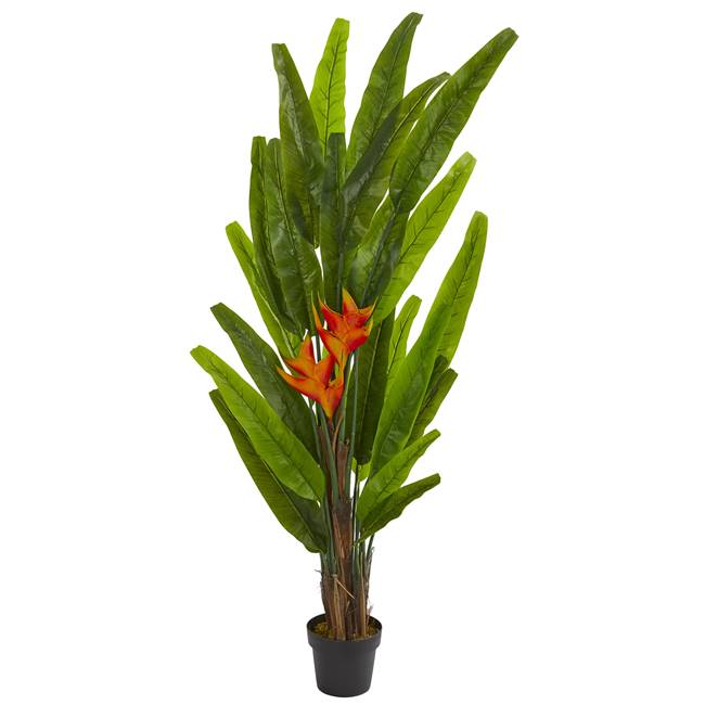 5.5' Heliconia Artificial Plant