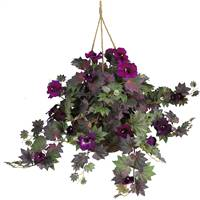 Morning Glory Hanging Basket Silk Plant