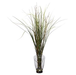 Grass & Bamboo w/Large Jar Silk Plant