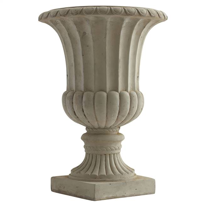 "20.25"" Large Sand Colored Urn Indoor/Outdoor)"