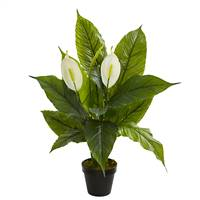 "26"" Spathiphyllum  Artificial Plant (Real Touch)"