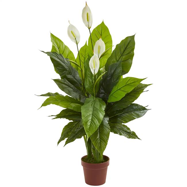 "42"" Spathiphyllum Artificial Plant (Real Touch)"