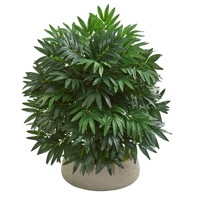 "30"" Bamboo Palm Artificial Plant in Stone Planter"