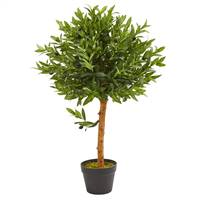 "34"" Olive Topiary Artificial Tree UV Resistant (Indoor/Outdoor)"