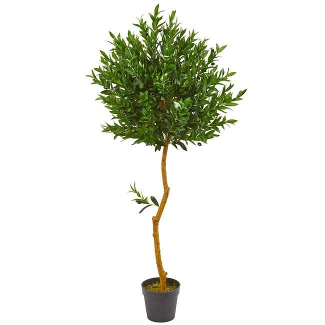 "58"" Olive Topiary Artificial Tree UV Resistant (Indoor/Outdoor)"