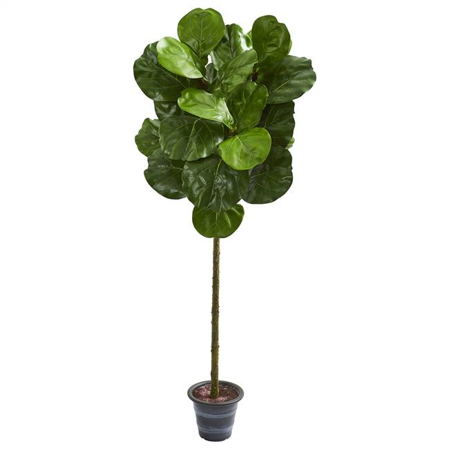 4' Fiddle Leaf Artificial Tree With Decorative Planter