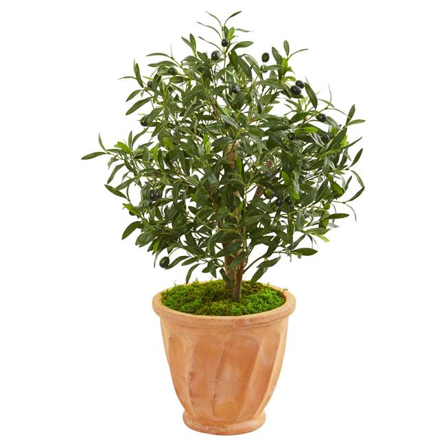 "34"" Olive Artificial Tree in Terra Cotta Planter"