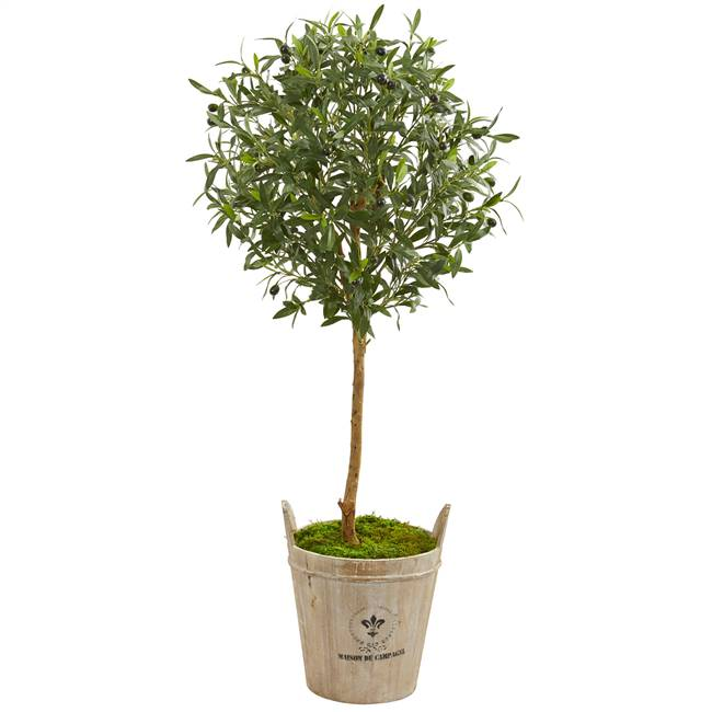 "46"" Olive Artificial Tree in Farm House Planter"