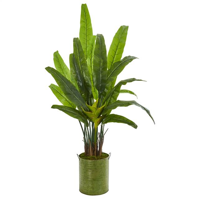 5' Travelers Palm Artificial Tree in Metal Planter